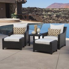 Deco 5 Piece Deep Seating Group with Cushion