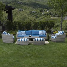 Cannes 7 Piece Deep Seating Group with Cushions