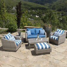 Cannes 6 Piece Deep Seating Group with Cushions