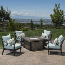 Astoria 5 Piece Deep Seating Group with Fire Table