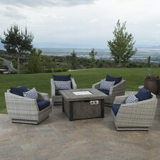Cannes 5 Piece Deep Seating Group with Fire Table