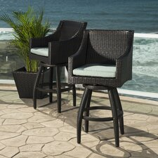 "Deco 30"" Bar Stool with Cushion (Set of 2)"