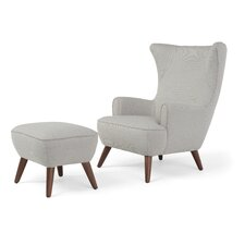 Victoria High Back Armchair and Ottoman