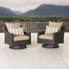 Deco Motion Club Chair with Cushions (Set of 2)