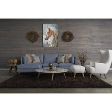 Florence 5 Piece Living Room Set with High Back Chair