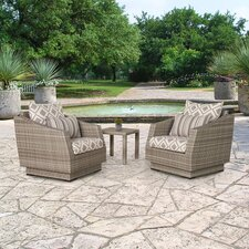 Cannes 3 Piece Deep Seating Group with Cushion