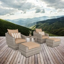 Cannes 5 Piece Deep Seating Group with Cushion