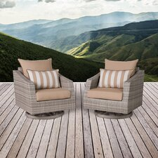 Cannes Motion Armchair with Cushions (Set of 2)