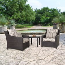 Deco 3 Piece Deep Seating Group with Cushion