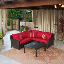 Deco 2 Piece Sectional Sofa Set with Cushions