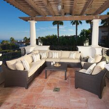 Deco 9 Piece Deep Seating Group with Cushions