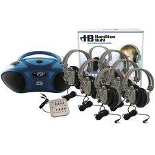 6 Station Basic Bluetooth/CD/FM Listening Center