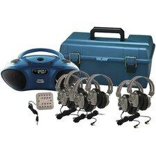 Val-U-Pak 6 Station Bluetooth/CD/FM Listening Center