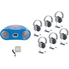 Basic Cassette/CD/AM-FM Listening Center 6 stations