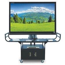 """Metal 80"""" Flat Panel AV Cart"""