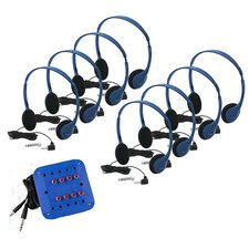 Kids 8 Station Jackbox Listening Center with Personal Headphones