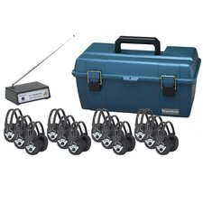 12 Station Bluetooth Wireless Listening Center with 12 Multi Headphones and Bluetooth Transmitter