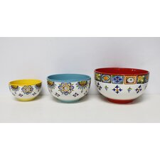 3 Piece Ceramic Mixing Bowl Set