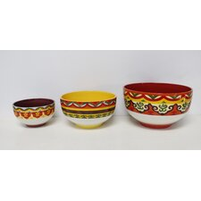 Galicia 3 Piece Ceramic Mixing Bowl Set