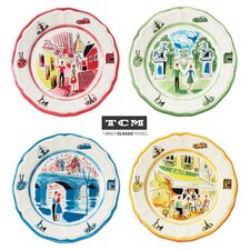 TCM An American in Paris 8.65 Inch Salad Plate 4 Piece Set