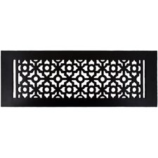 "5.5"" x 15.5"" Pasadena Floor Register in Black"