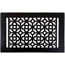 "7.5"" x 11.5"" Pasadena Floor Register in Black"