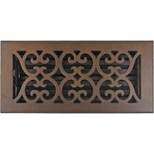 "5.5"" x 11.5"" Bronze Scroll Vent Cover"