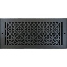 "7.5"" x 15.5"" Pasadena Wall Register in Black"
