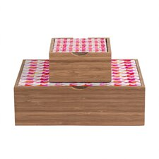 Betsy Olmsted Watercolor Houndstooth Storage Box