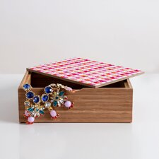 Betsy Olmsted Watercolor Houndstooth Box
