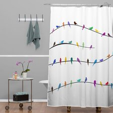 Belle 13 Happy Spring Shower Curtain