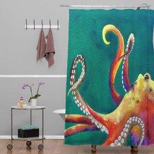 Clara Nilles Mardi Gras Octopus Shower Curtain