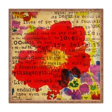 Irena Orlov Poppy Poetry 2 Square Tray