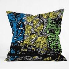Romi Vega Bright Owl Throw Pillow