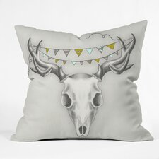 Wesley Bird Skull Throw Pillow