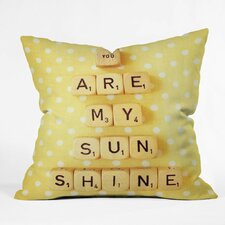 Happee Monkee Tiles You Are My Sunshine Throw Pillow