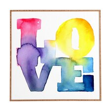 Love 4 by CMYKaren Framed Textual Art