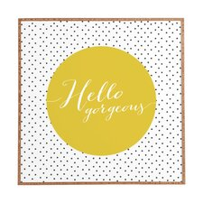 """Hello Gorgeous"" by Allyson Johnson Framed Textual Art Plaque"