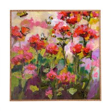 Bee Balm and Bees by Ginette Fine Art Plaque Framed Painting Print Plaque