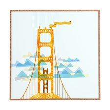 San Francisco Golden Gate by Jennifer Hill Framed Graphic Art Plaque