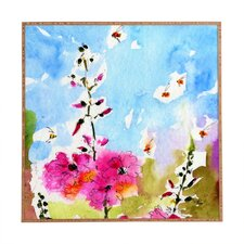 Lavatera 3 by Ginette Fine Art Plaque Framed Painting Print Plaque