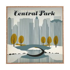 Central Park Snow by Anderson Design Group Framed Vintage Advertisement Plaque
