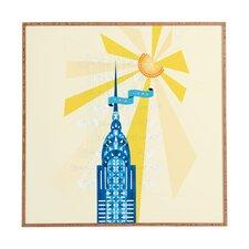 New York City Chrysler Building by Jennifer Hill Framed Graphic Art Plaque