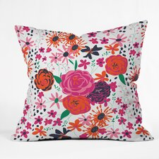 Vy La Bloomimg Love Indoor/outdoor Throw Pillow
