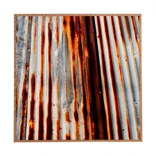 Rusted Lines by Caleb Troy Framed Photographic Print Plaque