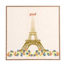 Paris Eiffel Tower by Jennifer Hill Framed Graphic Art Plaque
