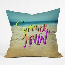 Leah Flores Summer Lovin Beach Indoor/Outdoor Throw Pillow