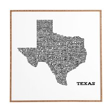 Texas Map by Restudio Designs Framed Graphic Art