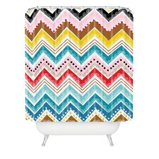 Khristian A Howell Nolita Chevrons Extra Long Shower Curtain