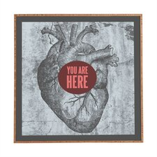 You Are Here by Wesley Bird Framed Graphic Art Plaque